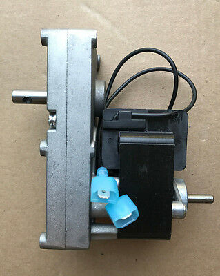 Pellet Stove Auger Gear Feed Motor, 4 RPM, 120V, 60Hz Clockwise CW For Breckwell
