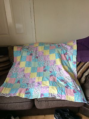 Handmade Princess Patchwork Quilt And Cushion Cover