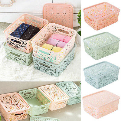 Home Storage Bin File Box Household Toy Organizer Cube Basket Container