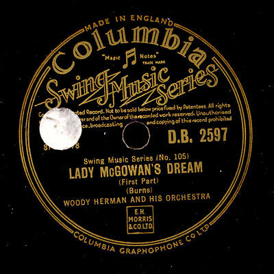 WOODY HERMAN & HIS ORCHESTRA  Lady McGowan's Dream (1&2)  Schellackplatte  X815