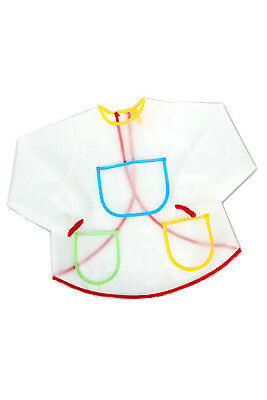 PF Waterproof Anti-Wear Overalls Painting Smock for Children Costume Crafts