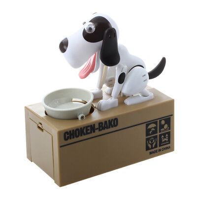 PF Robotic Dog Hound Coin Eating Save Money Box Collection Gift