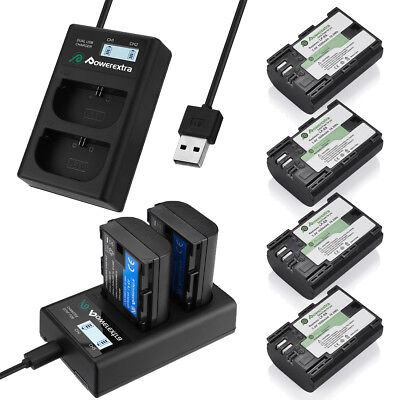 LP-E6 Battery + Dual Charger for Canon EOS 80D, 6D, 7D, 70D, 60D, 5D Mark II III