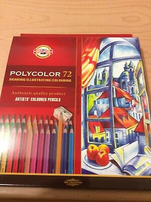 Koh-I-Noor Polycolor 72 set in box. Artist colour pencils. New unused.