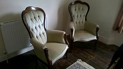Pair of old bedroom chairs