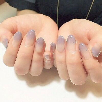 E-53''24 Pcs Set Nude Color Gradient Nail Tips Press-On Completed Fake Nails '