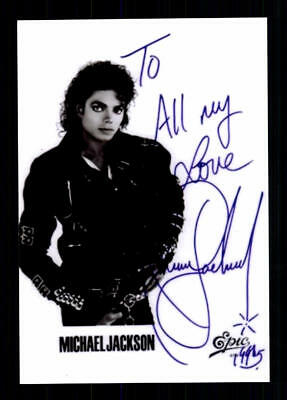 Michael Jackson ++Autogramm++ ++POP Legende ++CH 216