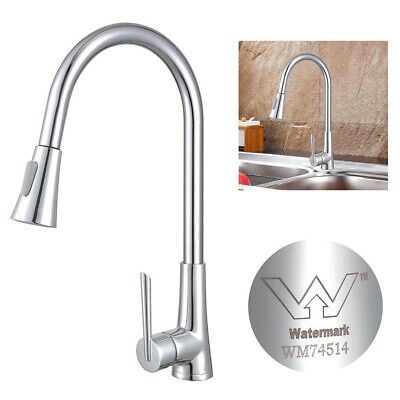 Watermark WELS Kitchen Faucet Mixer Tap Sink Swivel Pull Out Down Chrome Brass