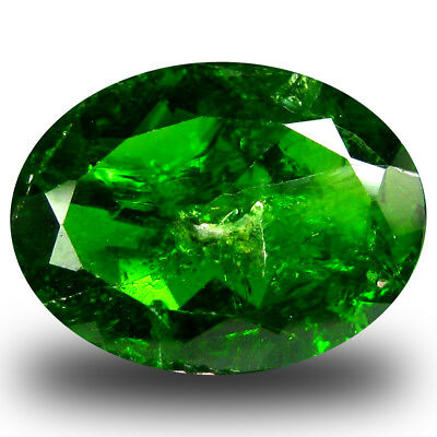 4.12 ct  First-class Oval Shape (13 x 10 mm) Green Chrome Diopside Gemstone