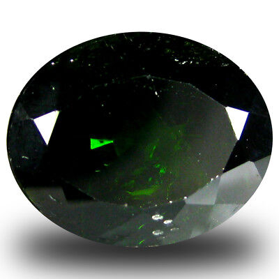 4.47 ct  Wonderful Oval Shape (11 x 9 mm) Green Chrome Diopside Natural Gemstone