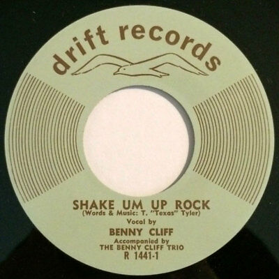 """Benny Cliff - Shake Um Up Rock / The Breaking Point 7"""" rockabilly repro"""