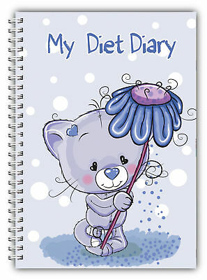 Diet Diary Slimming Tracker Food Diary Weight Loss A5 Journal My Diet Diary Bear