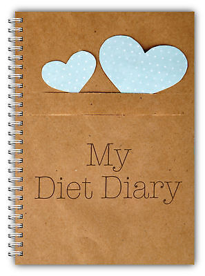 A5 Diet Diary Slimming Tracker Food Diary Weight Loss Journal My Diet Diary Hrts