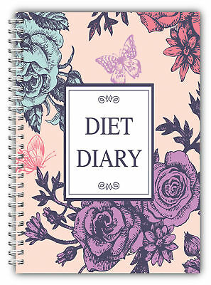 A5 Diet Diary Slimming Tracker Food Diary Weight Loss Journal Diet Diary Flowers