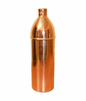 Water Storage Pitcher Bottle Health Benefit Pure Copper Jug 800 ML Ayurveda New