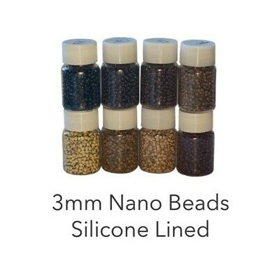 ~ 3mm Nano Rings Beads Silicone Lined HIGH QUALITY Nano Tip Hair Extensions ~