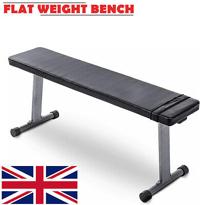 Flat Weight Bench Chest Biceps Press Abs Home Gym Fitness Weight Lifting Workout