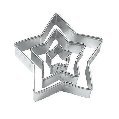 PF Star Cut Outs Cookie Cutters,Set of 3