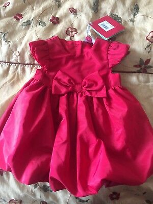 BRAND NEW WITH TAGS.Baby Girl 0-3 Months Red Dress. Boots Mini Club