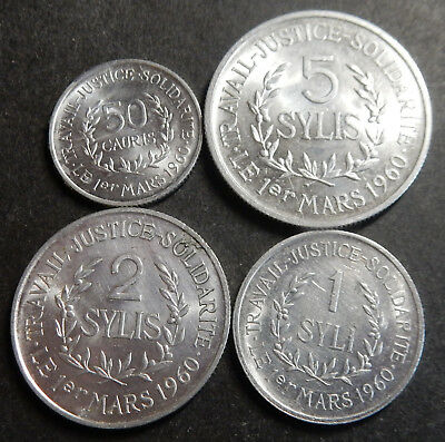 Guinea Complete aluminum set 0.50+1+2+5 Sylis 1971 up to Top grade Rare!