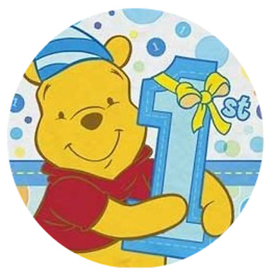 Set Of 12 Marvel Winnie The Pooh 1St Birthday Blue 14X8 Size Cake Bags
