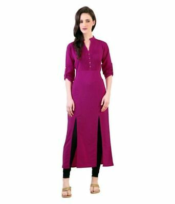 Indian Bollywood Style Kurtis Made From Pure Cotton Best Fitting All Sizes-11