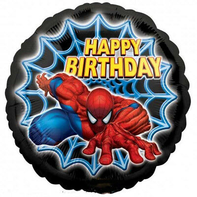 Set Of 12 Marvel Comics Spiderman Birthday 14X8 Size Cake Bags
