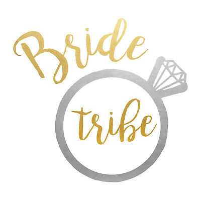 Set Of 12 Gold And Silver Bride Tribe 14X8 Size Cake Bags