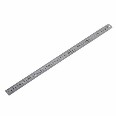 PF Double Side Scale Stainless Steel Straight Ruler Measuring Tool 50cm