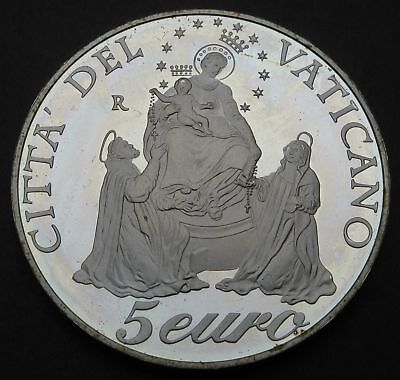 VATICAN 5 Euro 2003 R Proof - Silver - Year of the Rosary - 1908