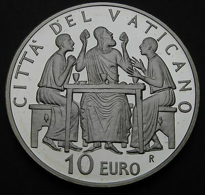 VATICAN 10 Euro 2005 R Proof - Silver - Year of the Eucharist - 1916