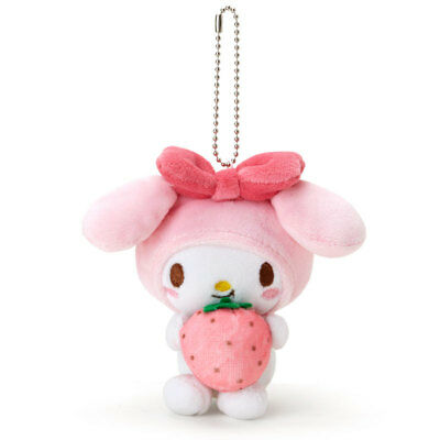 My Melody Mogumogu Mascot Holder (Strawberry) SANRIO From Japan ##mo