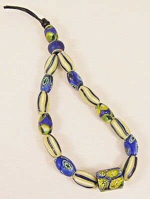 RARE Old Antique Venetian Millefiori  Glass African Trade Beads FREE SHIPPING