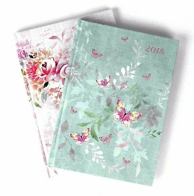 2018 A5 Week to view Diary Hardback Cover Case Notebook Pad Calendar