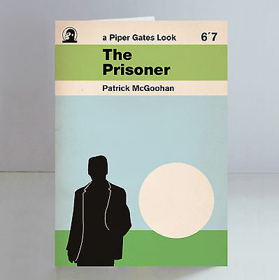 The Prisoner Number 6 Greeting Card Limited Edition Retro Penguin Books