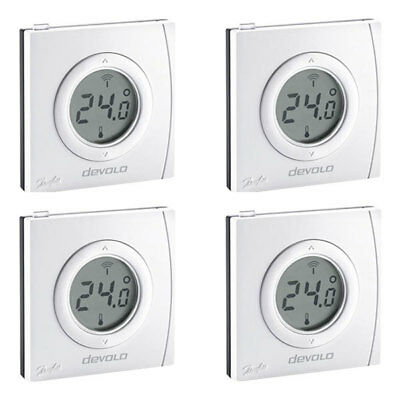 Devolo Home Control Raumthermostat 4er Set Smart Home Z-Wave Hausautomation