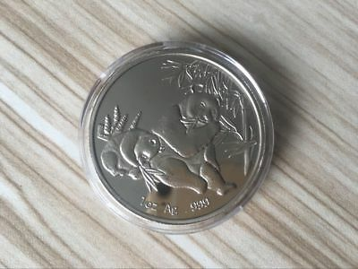 2006 Chinese 1oz Pure Silver china Panda Coin With the Box 01