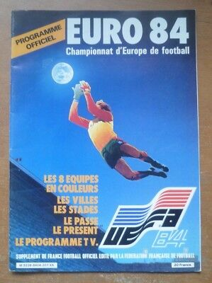 1984 - European Championship Tournament Programme.