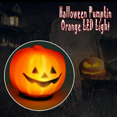 Halloween Kürbis Jack O Laterne Orange LED Licht Festival Home Decoration  Neu
