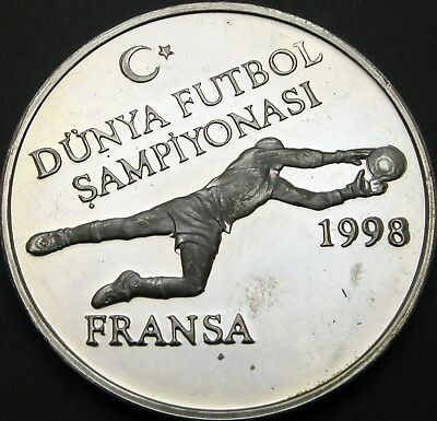 TURKEY 750000 Lira 1996 Proof - Silver - Soccer World Cup France '98 - 2004 ¤
