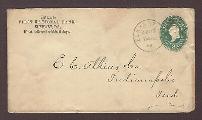 mjstampshobby 1888 US Famous First National Bank Vintage Cover Used (Lot4777)