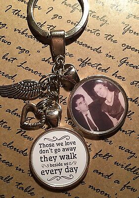 Personalised Photo Keyring - Memorial Bereavement Angel - In Memory of Gift