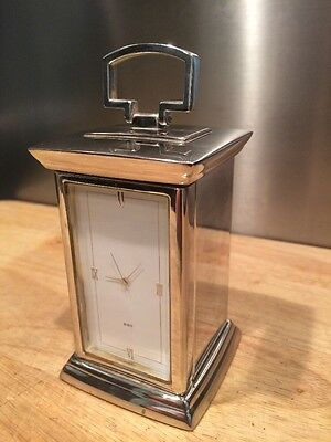 AFC Bournemouth Polished Metal Carriage Clock