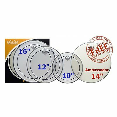 """Remo ProPack 10"""", 12"""", 16"""" Pinstripe Clear"""