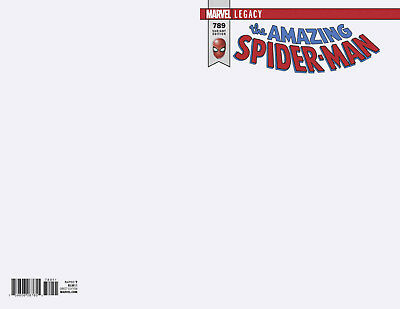 AMAZING SPIDER-MAN #789 BLANK VARIANT LEGACY Marvel Comics NM Presale 10/11/2017