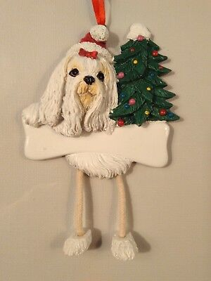 Maltese, Personalized Dog Ornament  *CUTE*
