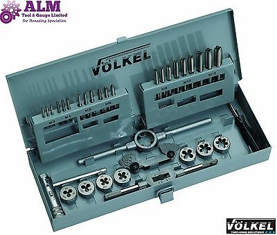 Volkel Germany Quality HSS Metric Tap & Die Set M3-M12 Metal Box