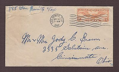 mjstampshobby 1937 US Feeder Survey Flights Air-Mail Cover Used (Lot4236)