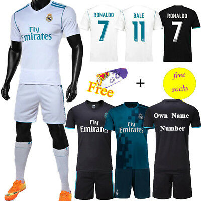 2017-18 Football Kits Adult Kids Soccer Jersey Team Suit Short Sleeve+Socks