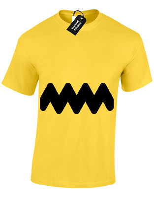 582d01387 Charlie Brown Mens T Shirt Funny Retro Cartoon Snoopy Peanuts Fan Design Top